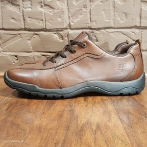 Timberland Men's Brown Leather Oxfords, Size 10.5